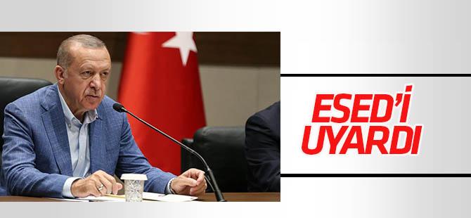 Erdoğan'dan Esed'e uyarı!