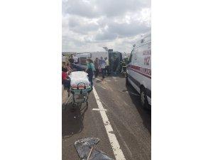 Tekirdağ'da trafik kazası: 18 yaralı
