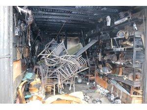Sivas'ta garajda korkutan yangın