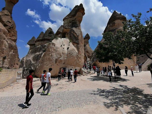 Hüyüklü gençler Kapadokya'yı gezdi