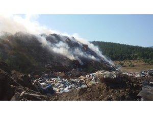 Erdek'te çöplük yangını