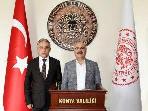 Aydın Valisi Köşger, Vali Toprak'ı ziyaret etti.