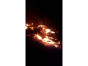 Artvin'in Yusufeli ilçesi Dokumacılar köyünde yangın