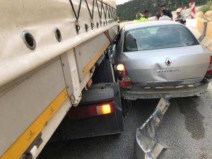 Mut'ta trafik kazası; 1 yaralı