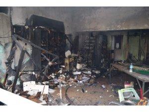 Trabzon'da sanayi sitesinde korkutan yangın