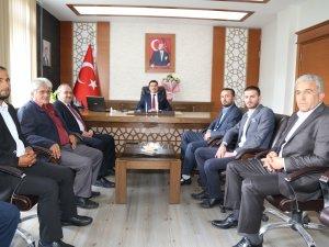 AK Parti teşkilatından Kaymakam Gökçe'ye ziyaret