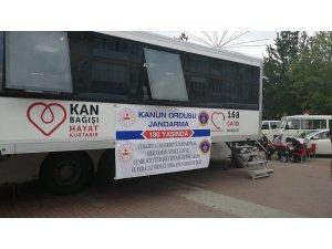 Beyşehir'de jandarmadan kan bağışı kampanyası