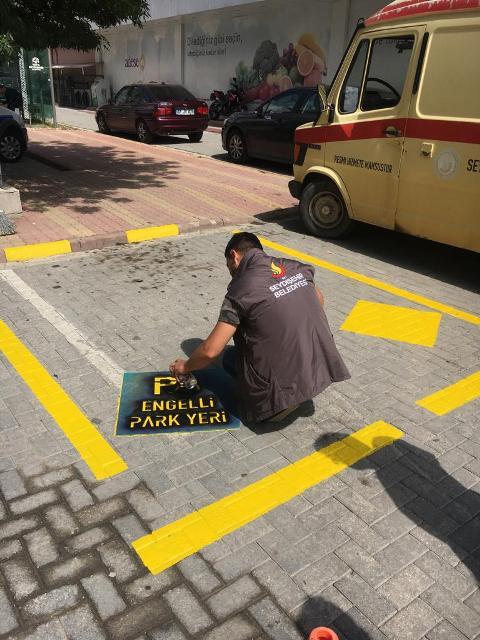 Seydişehir'de engelli araç park yerleri belirlendi