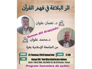 Konya'da Kur'an-ı Kerim konferansı