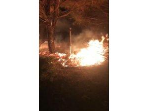 Tekirdağ'da korkutan yangın
