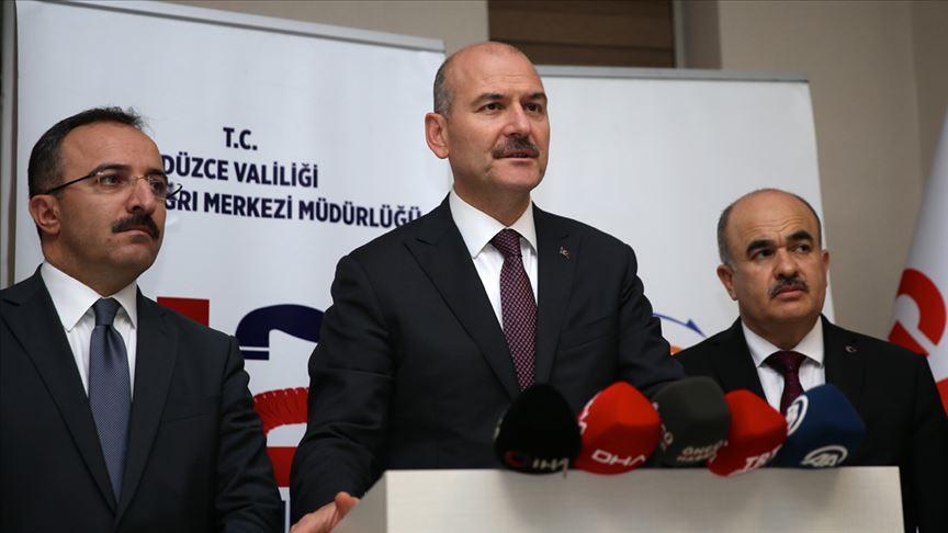 İçişleri Bakanı Soylu: Düzce'deki toprak kaymasında 7 vatandaşın kayıp olduğu ihbarı geldi