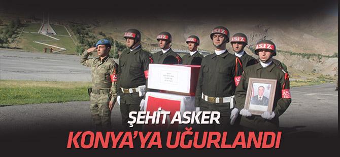 Pençe Harekatı'nda şehit düşen asker törenle memleketi Konya'ya uğurlandı