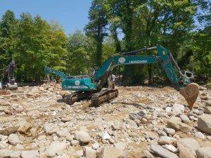 Düzce'deki su baskını ve toprak kayması