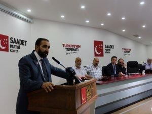 Saadet Konya'da divan toplantısı