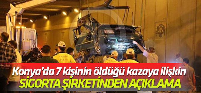 Konya'da 7 kişinin öldüğü kazaya ilişkin yeni açıklama…