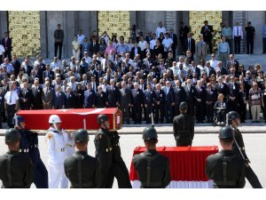 Eski TBMM Başkanı Bozbeyli için TBMM'de tören düzenlendi