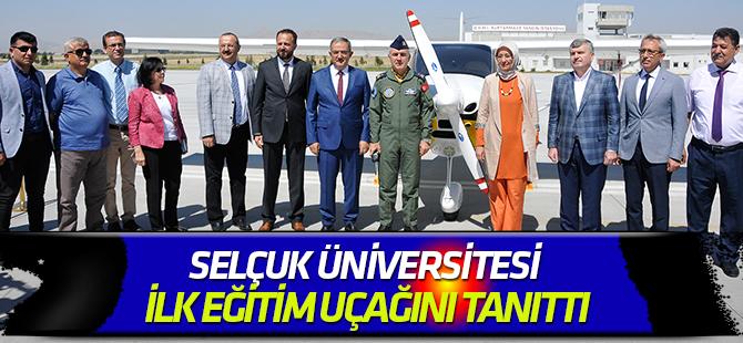 Selçuk Üniversitesi ilk eğitim uçağını tanıttı