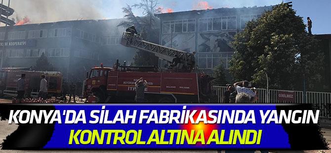 Konya'da silah fabrikasında yangın kontrol altına alındı