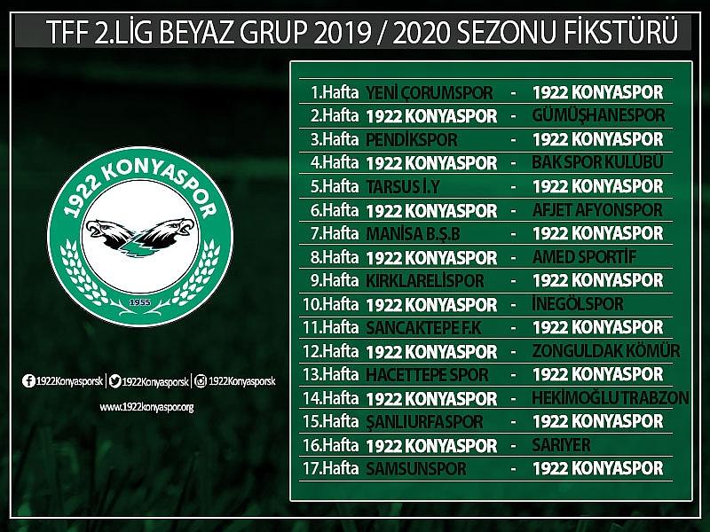 TFF 2. Lig'de 2019-2020  Futbol Sezonu fikstürü çekildi