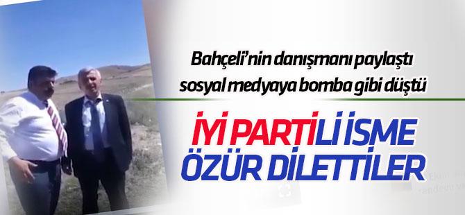 Bahçeli'nin danışmanı paylaştı! İYİ Parti'li Davut Sevinç'e özür dilettiler