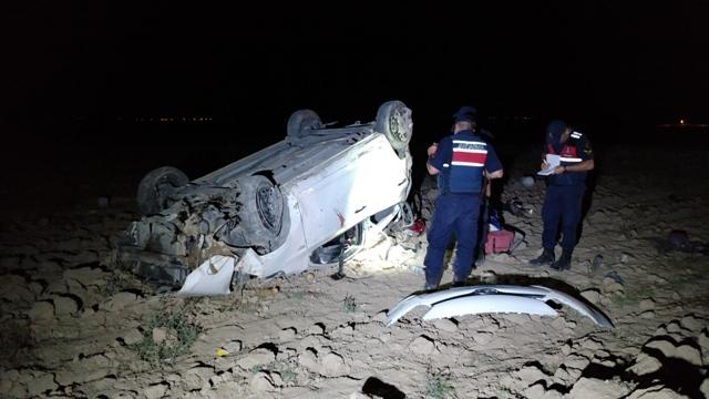 Konya'da otomobil devrildi: 1 ölü