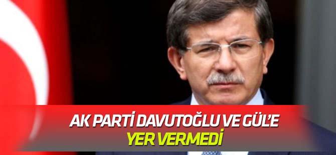 AK Parti'nin yayımladığı görselde Gül ile Davutoğlu'nun seçildiği tarihler yer almadı