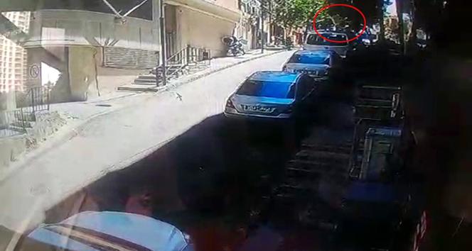 4. kattan arabanın üzerine böyle düştü! İnanılmaz kurtuluş