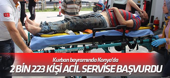 Kurban bayramında Konya'da 2 bin 223 kişi acil servise başvurdu