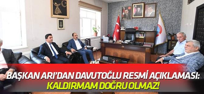 Başkan Arı'dan Davutoğlu fotoğrafı açıklaması