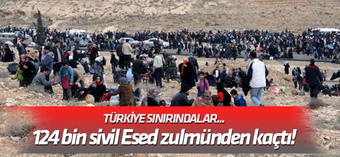 Türkiye sınırındalar... 124 bin sivil Esed zulmünden kaçtı!