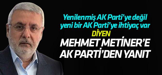 Naci Bostancı'dan Mehmet Metiner'e cevap