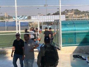 İsrail, Kudüs'te stadyuma baskın düzenledi
