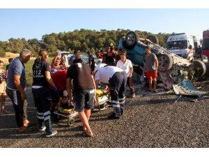 Kazada ağır yaralanan sürücü kurtarılmadı
