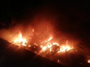 Çorlu'da geri dönüşüm fabrikasında büyük yangın