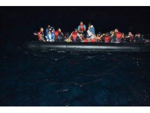 Edirne açıklarında 1 saat arayla toplam 68 düzensiz göçmen yakalandı