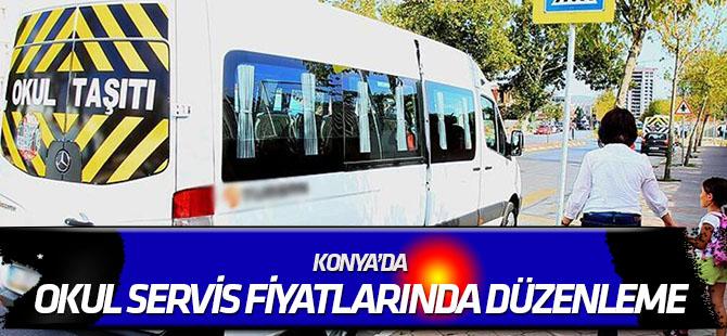 Konya'da okul servis fiyatlarında düzenleme