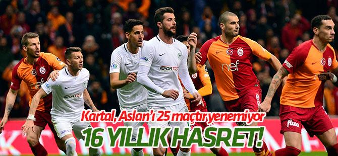 37. randevu! Konyaspor Galatasaray'ı 25 maçtır yenemiyor