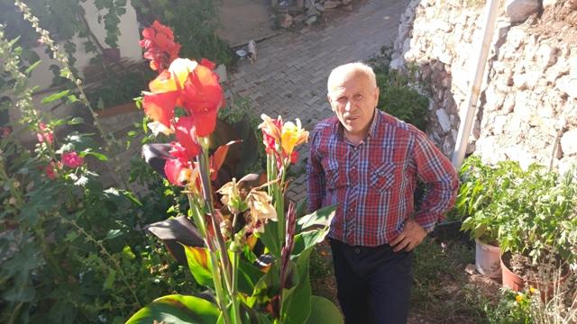 Yazlıkçının çiçekleri ziyaretçi akınına uğruyor