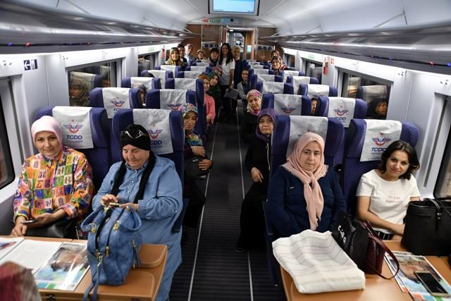 Konya yolcuları uğurlandı