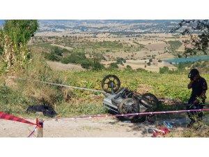 Kütahya'da devrilen motosikletin sürücüsü öldü