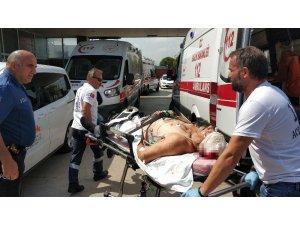 Kafasına demirle vurulan şahıs ağır yaralandı