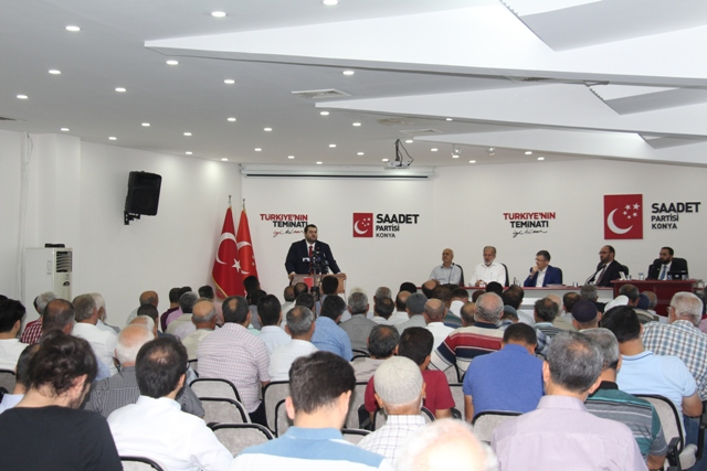 Saadet'te Ağustos toplantısı