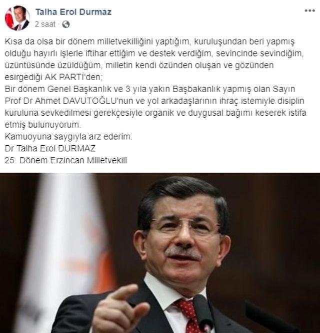 Eski AK Parti Milletvekili Talha Erol Durmaz istifa etti