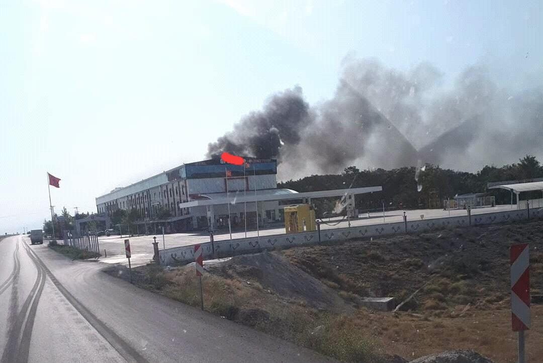 Sultanhanı'nda bir otelde yangın!