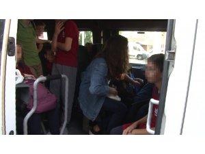 Beyoğlu'nda okul servis denetimlerinde şok görüntü