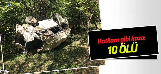 Bitlis'te minibüs şarampole devrildi: 6'sı çocuk, 10 ölü
