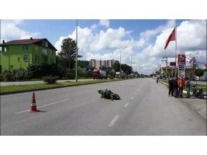 Terme'de motosikletin çarptığı yaya öldü
