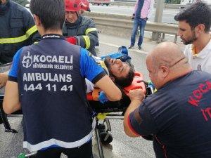 Kocaeli'de makas atan otomobil zincirleme kazaya sebep oldu