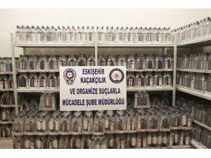 Eskişehir'de 2 bin 208 şişe etil alkol ele geçirildi