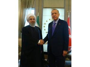 Erdoğan-Ruhani görüşmesi başladı